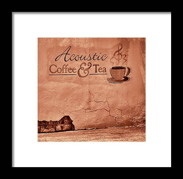 Greg Jackson Framed Print featuring the photograph Acoustic Coffee And Tea - 1c2b by Greg Jackson