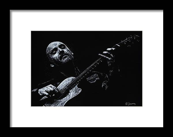 Musician Framed Print featuring the pastel Acoustic Serenade by Richard Young