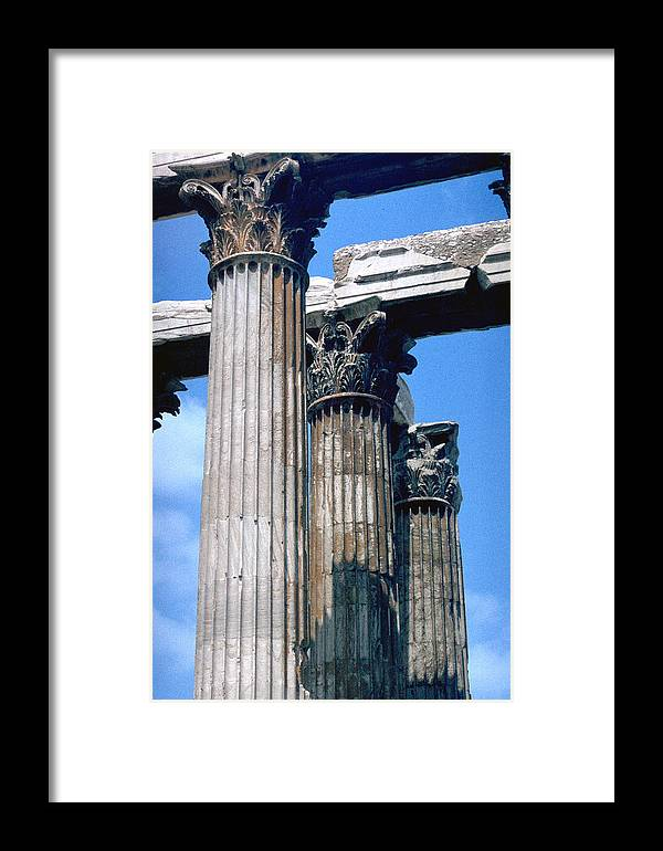 Acropolis Framed Print featuring the photograph Acropolis by Flavia Westerwelle