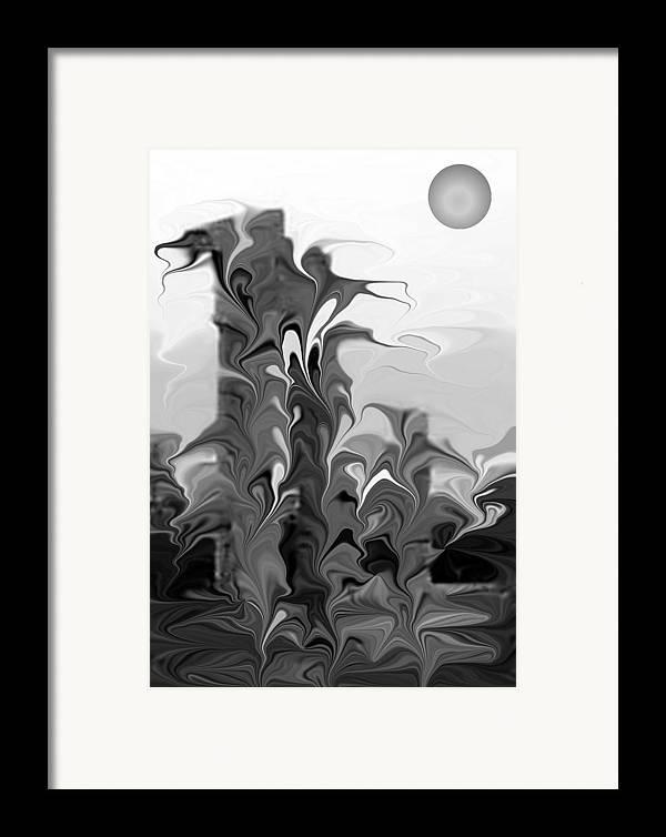 Abstsract Framed Print featuring the digital art Acropolis Rhodes by James Eugene Albert