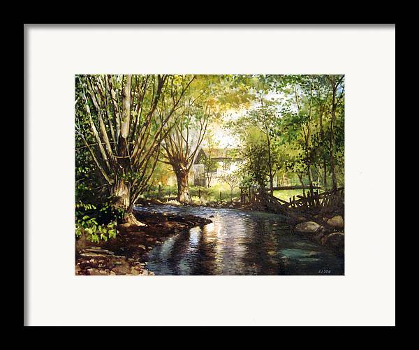 Landscape Framed Print featuring the pastel across Bulgaria 4 by Stoian Pavlov