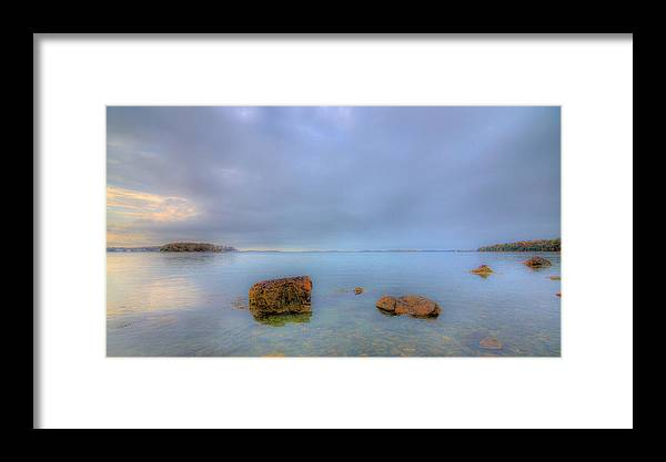 New England Framed Print featuring the photograph Across The Harbor 2 by David Henningsen