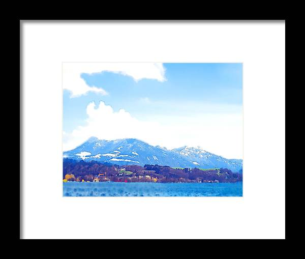 Landscape Framed Print featuring the photograph Across The Lake by Chuck Shafer