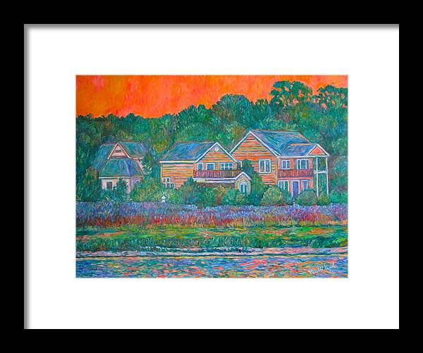 Landscape Framed Print featuring the painting Across The Marsh At Pawleys Island    by Kendall Kessler