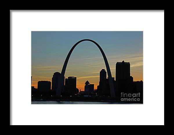 Arch Framed Print featuring the photograph Across The River by Nicole Engelhardt