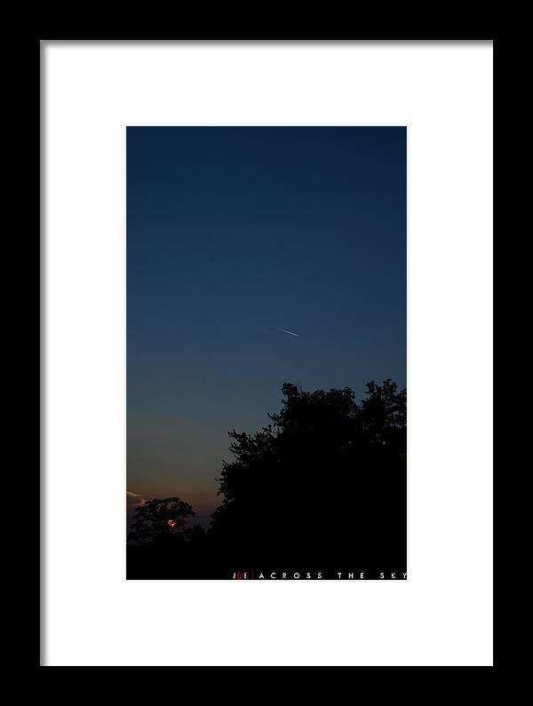 Sky Framed Print featuring the photograph Across The Sky by Jonathan Ellis Keys