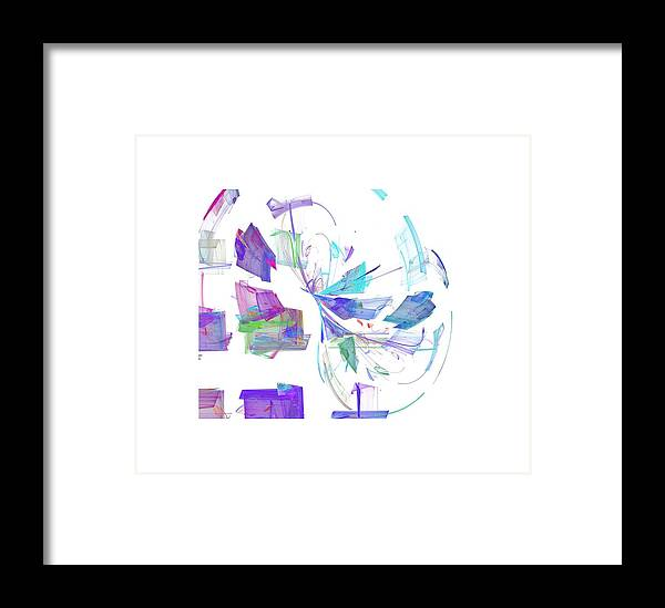 Pastel Framed Print featuring the digital art Action In Pastel by Ilia