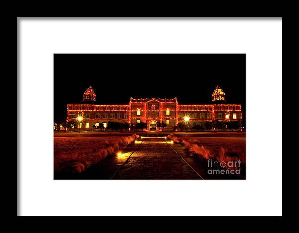 Ad Building Framed Print featuring the photograph Ad Building by Mae Wertz