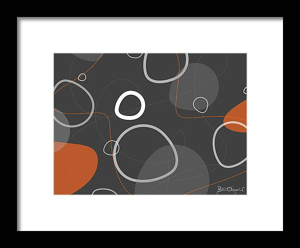 Retro Framed Print featuring the print Adakame - Atomic Abstract by Bill ONeil