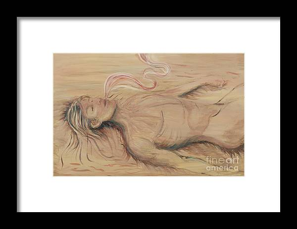 Adam Framed Print featuring the painting Adam and the Breath of God by Nadine Rippelmeyer