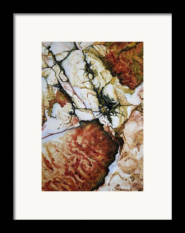 Abstract Framed Print featuring the painting Adam by Craig Gallaway