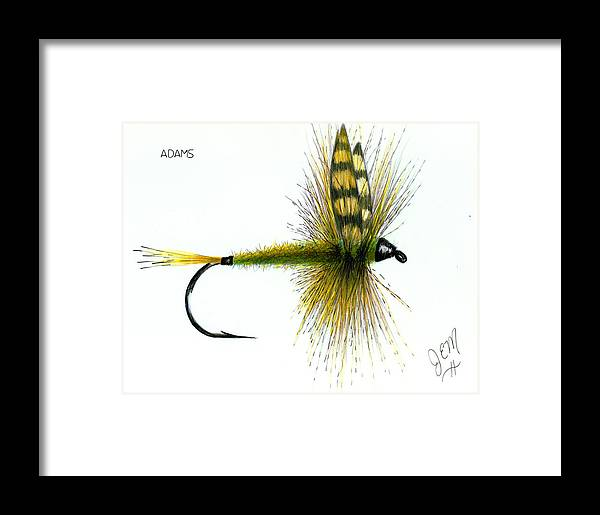 Fly Fishing Framed Print featuring the drawing Adams by James Eugene Moore