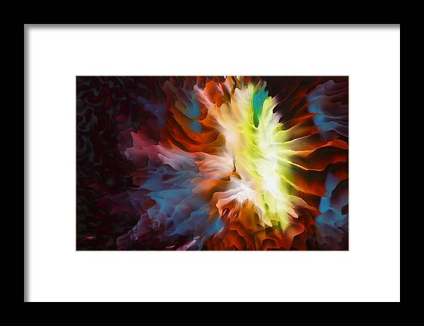 Abstract Art Framed Print featuring the painting Adding Fuel To The Fire by Tara Baden