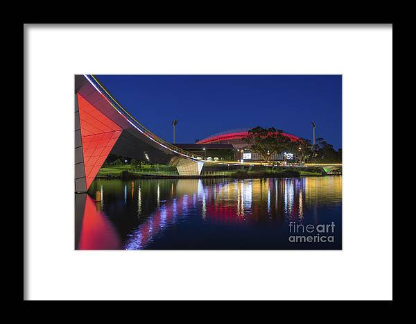 Adelaide Framed Print featuring the photograph Adelaide Oval Elegance by Ray Warren