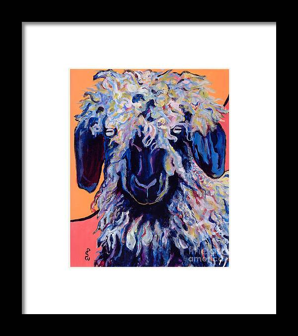 Goat Print Framed Print featuring the painting Adelita  by Pat Saunders-White