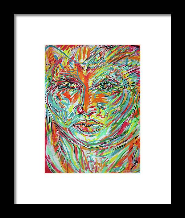 Adelita Framed Print featuring the painting Adelita 5 by Jimmy Longoria