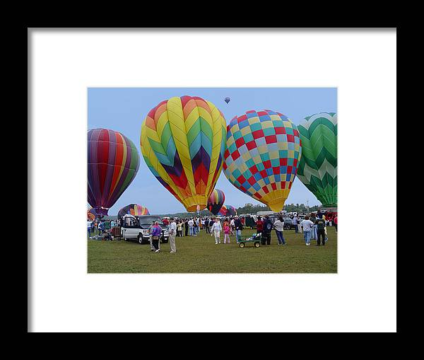 Adirondack Framed Print featuring the photograph Adirondack Hot Air Balloons by Reni Boisvert