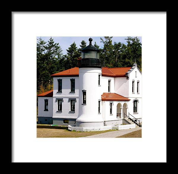 Architecture Framed Print featuring the photograph Admirality Head Lighthouse by Sonja Anderson