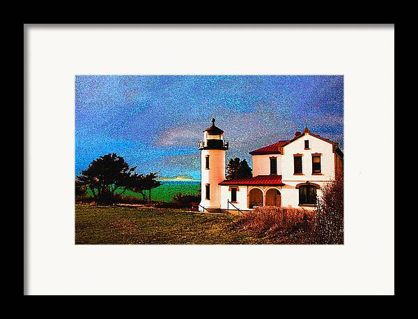 Lighthouse Framed Print featuring the photograph Admiralty Head Lighthouse Dp15 by Mary Gaines