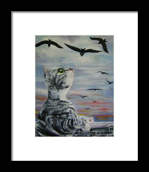Imaginative Framed Print featuring the painting Admiration by Lian Zhen