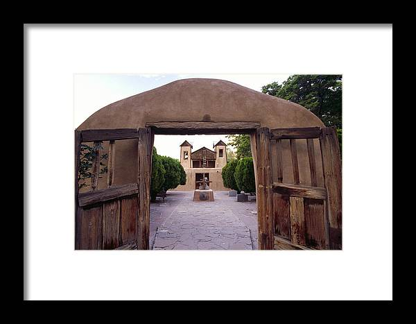 Adobe Framed Print featuring the photograph Adobe Gates by George Oze