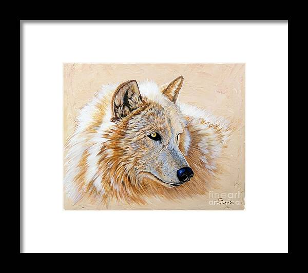Acrylic Framed Print featuring the painting Adobe White by Sandi Baker