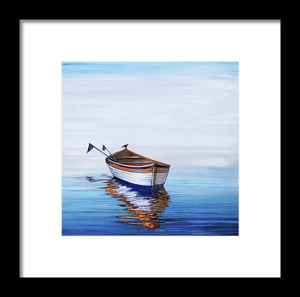 Framed Print featuring the painting Adrift by Sheila Carey
