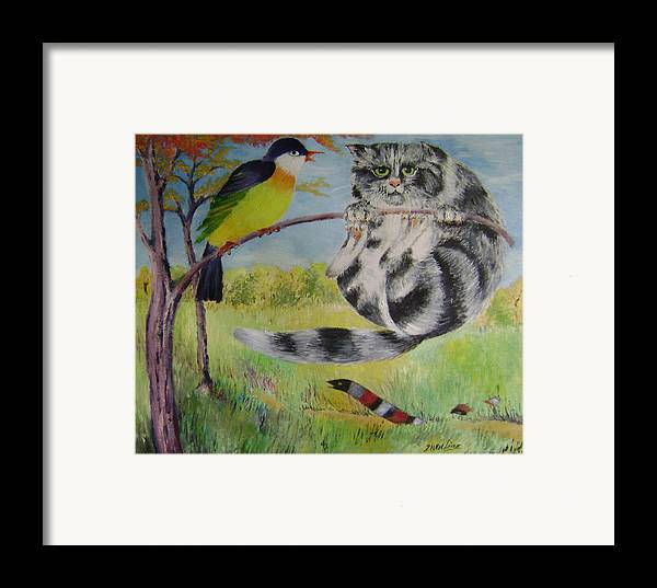 Surrealist Framed Print featuring the painting Adventure by Lian Zhen