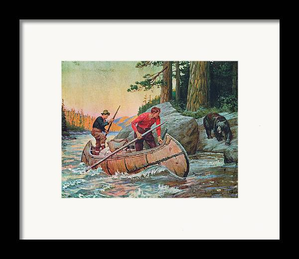 Philip Goodwin Framed Print featuring the painting Adventures On The Nipigon by JQ Licensing