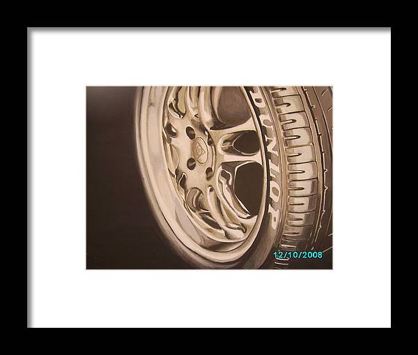 Graphic Framed Print featuring the digital art Advert by Olaoluwa Smith