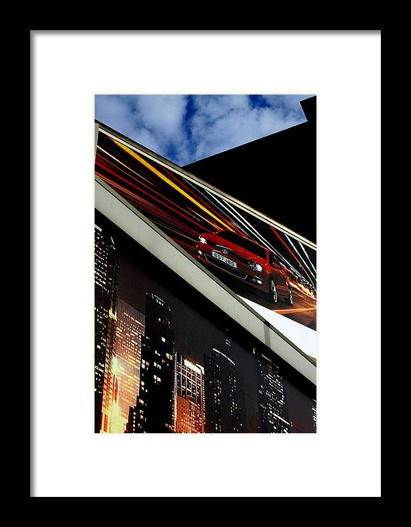 Jez C Self Framed Print featuring the photograph Advertising World by Jez C Self