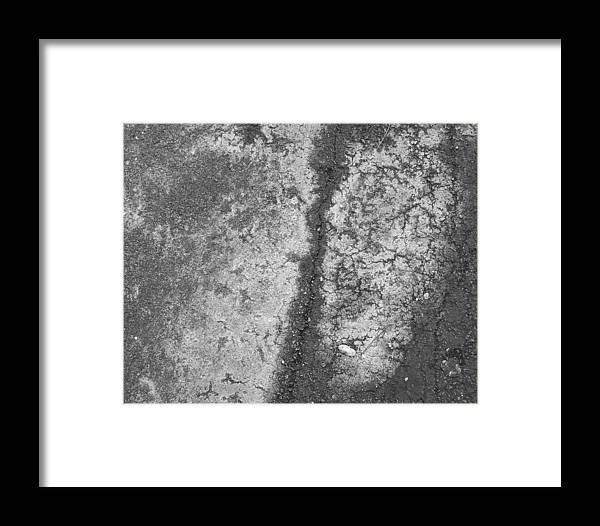Abstract Obscure White Gray Black Modern Framed Print featuring the photograph Aerial Asphalt 2 by Anna Villarreal Garbis