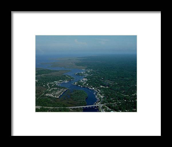Aerial Framed Print featuring the photograph Aerial View 2 by Debbie May