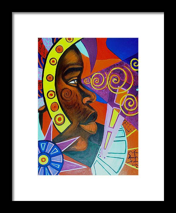 Maliksart Framed Print featuring the painting Aesthetic Ascension by Malik Seneferu