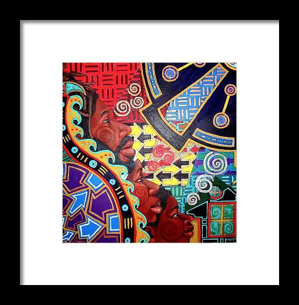 Malik Seneferu Framed Print featuring the painting Aesthetic Ascension Series by Malik Seneferu