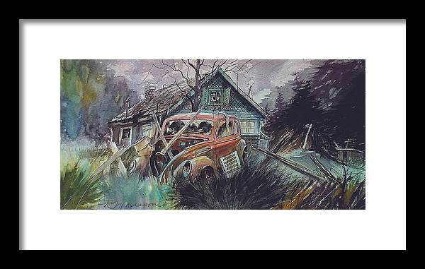 Ford Framed Print featuring the painting Affordable by Ron Morrison