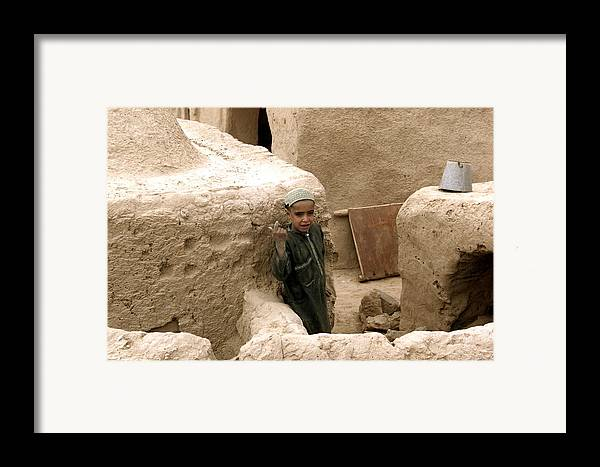 Afghanistan Framed Print featuring the photograph Afghan Child by Thomas Michael Corcoran