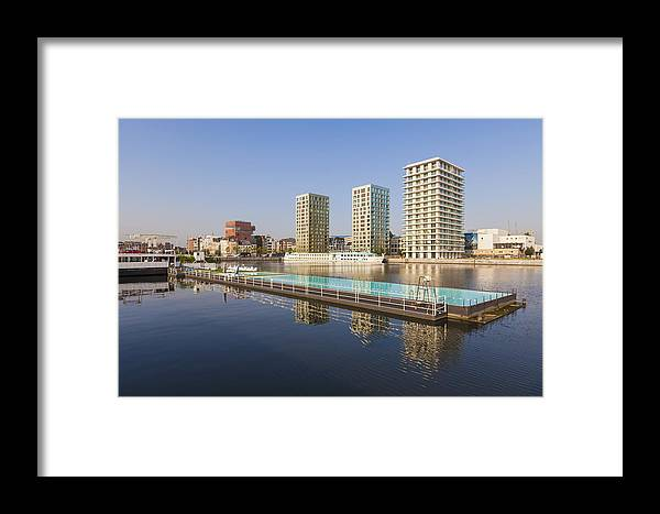 Modern Framed Print featuring the photograph Afloat Swimming Pool by Werner Dieterich