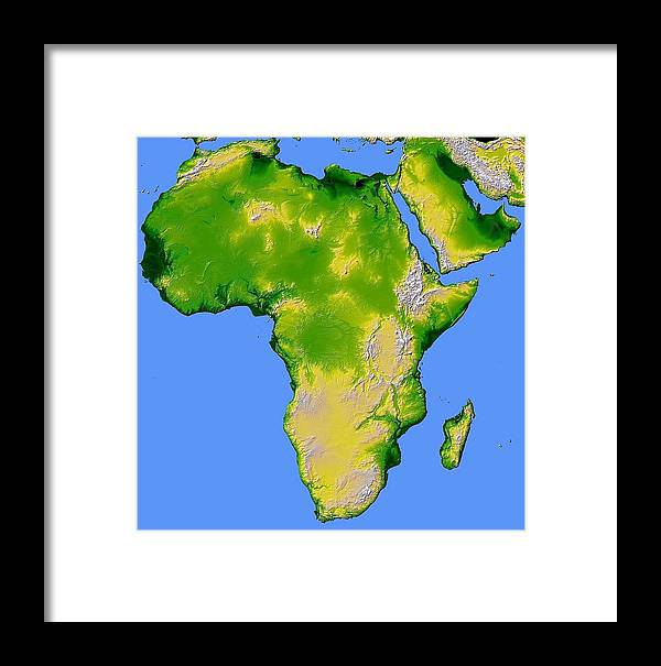 Artistic Panda Framed Print featuring the pyrography Africa by Artistic Panda