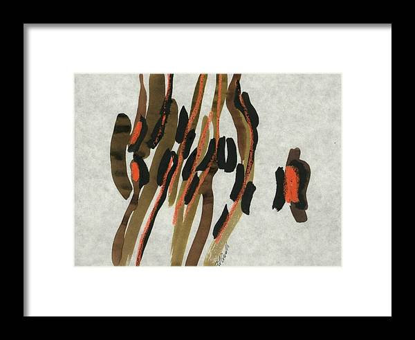Abstract Framed Print featuring the painting Africa by B L Qualls