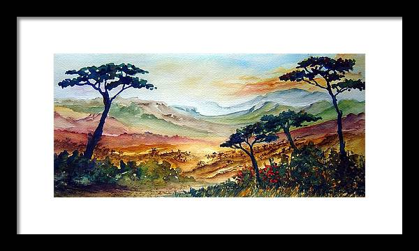 Africa Framed Print featuring the painting Africa by Jo Smoley