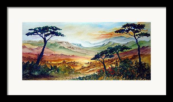 Africa Framed Print featuring the painting Africa by Joanne Smoley