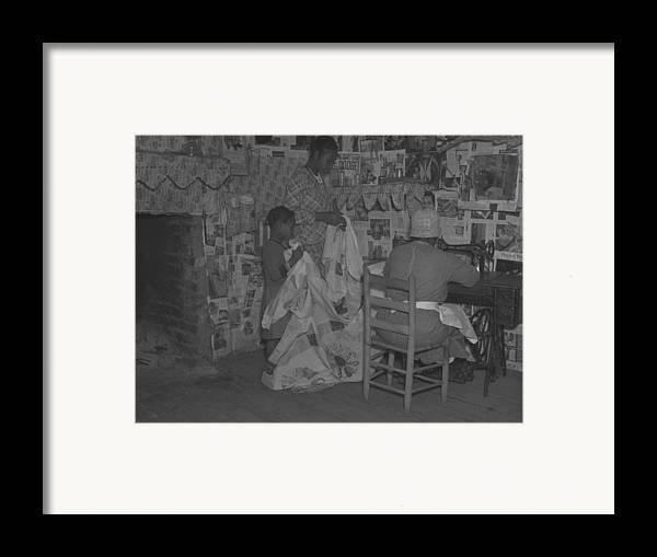 History Framed Print featuring the photograph African American Mother Is Assisted by Everett
