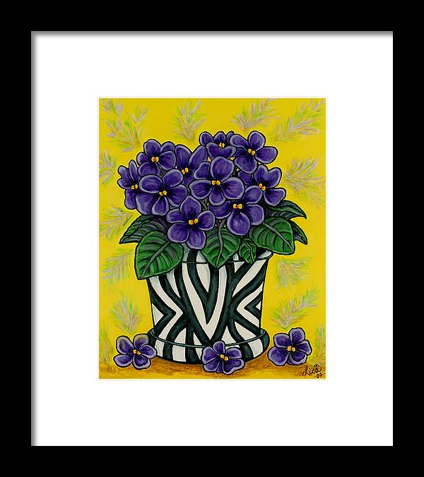 Violets Framed Print featuring the painting African Queen by Lisa Lorenz
