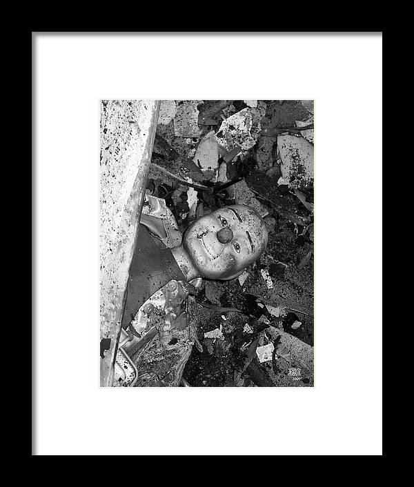 B/w Framed Print featuring the photograph After A Fire by Michele Caporaso