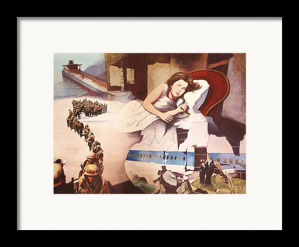 Lewis Caroll's Alice Framed Print featuring the painting After Alice by James LeGros