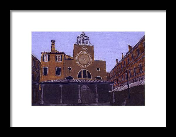Landscape Framed Print featuring the painting After Campo San Giacometto by Hyper - Canaletto