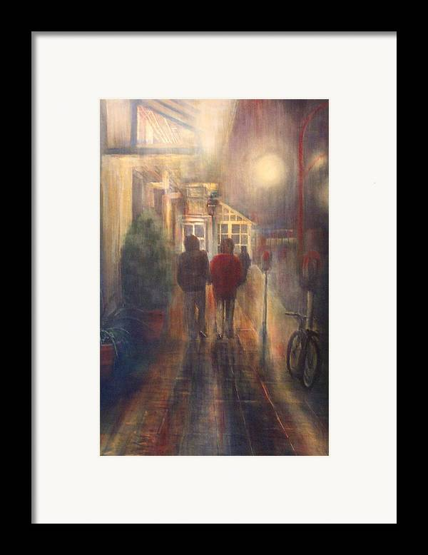 People Framed Print featuring the painting After Hours by Victoria Heryet