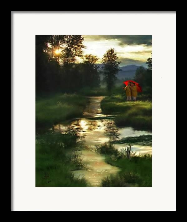 Boys Framed Print featuring the digital art After Morning Rain by Stephen Lucas