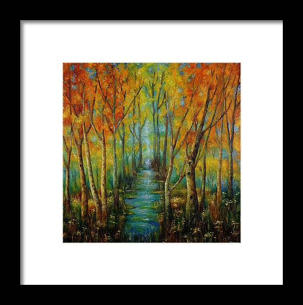 Painting Framed Print featuring the painting After Rain. by Evgenia Davidov
